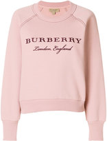 Burberry brand embroidered sweatshirt