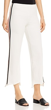 Lysse Emilia Cropped Wide-Leg Jeans in Off White
