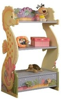 The Well Appointed House Teamson Design Under the Sea 3 Level Bookcase with Drawer-ON BACKORDER UNTIL LATE DECEMBER 2016
