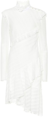 Philosophy di Lorenzo Serafini Cotton-blend long-sleeve dress
