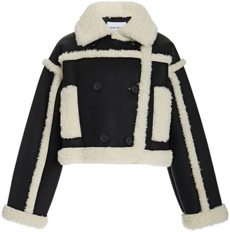 Stand Studio Kristy Shearling-Trimmed Faux Suede Jacket