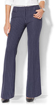 New York & Co. 7th Avenue Pant - Bootcut - Signature - Navy Pinstripe