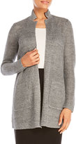 Eileen Fisher Notch Collar Linen Long Cardigan