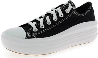 Converse Canvas Colour Chuck Taylor All Star Move Low Top Woman's Black Sportshoes 570256c
