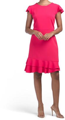 Midi Dress With Ruffle Detail
