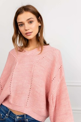 J.ING Peony Pink Knitted Sweater