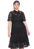ELOQUII Plus Size Mixed Lace Dress