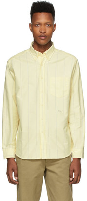 Noah NYC Yellow Wide Stripe Oxford Shirt