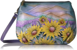 Anna by Anuschka Handpainted Leather Multi Compartment X-Body