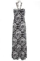 Black and White Circle Print Maxi Dress