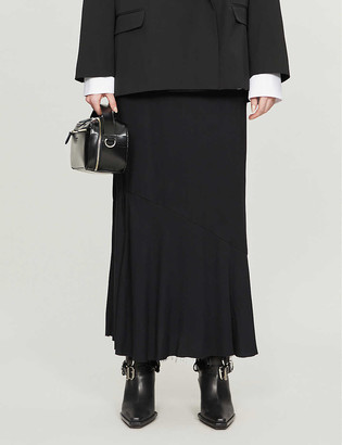 Ann Demeulemeester Side-split high-waisted rayon skirt