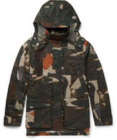 The Workers Club - Camouflage-print Waxed Cotton-canvas Jacket - Army green