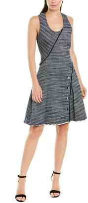 Derek Lam 10 Crosby Tweed A-Line Dress