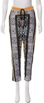 Clover Canyon High-Rise Printed Relaxed Straight-Leg Pants