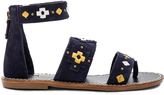 Soludos Embroidered Three Banded Sandal
