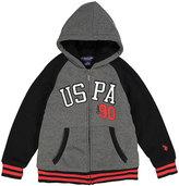 U.S. Polo Assn. Medium Heather Gray 'USPA 90' Sherpa-Lined Fleece Hoodie - Boys