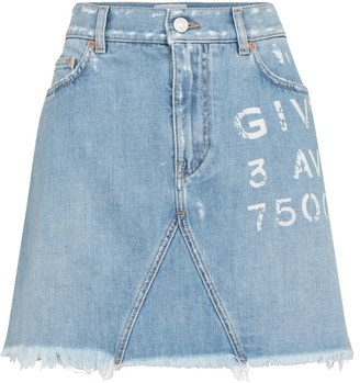 Givenchy Logo denim miniskirt