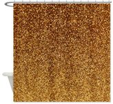 Shower Curtain Company CafePress Faux Gold glitter texture shower curtain matte Shower Curtain