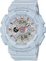 Baby-G Women's Analog-Digital Light Gray Resin Strap Watch 43x46mm BA110GA-8A