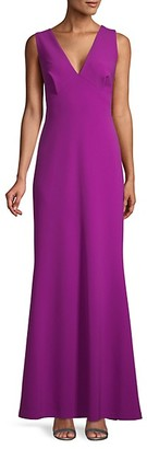 Sachin + Babi Sleeveless V-Neck Gown
