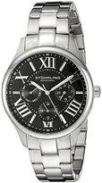 Stuhrling Original Women's 391L.02 Symphony Regent Majestic Quartz Day and Date Black Dial Bracelet Watch