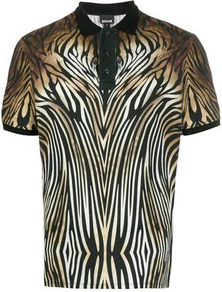 Just Cavalli Zebra Print Polo Shirt