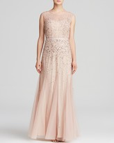 Adrianna Papell Gown - Illusion Beaded