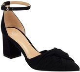 Marc Fisher Ziya Knotted Ankle Strap Block Heel Pump
