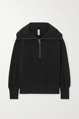 Varley Vine Ribbed Cotton-blend Sweater - Black