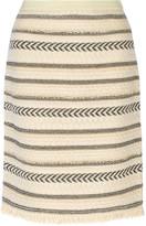 Tory Burch Wool-blend jacquard skirt