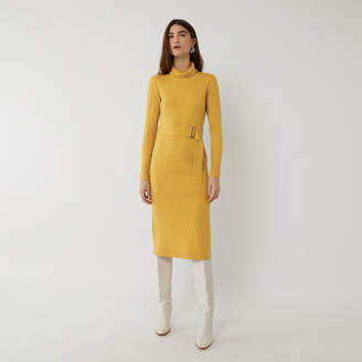 Warehouse WIDE RIB BELTED DRESS
