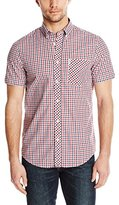 Ben Sherman Men's Short Sleeve House Mod Check Button Down Shirt