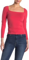 Abound Ruched Square Neck Top