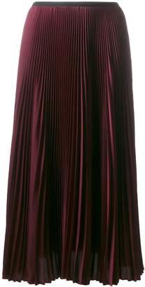 Blanca midi pleated skirt