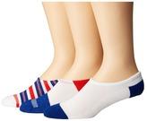 Converse Chucks Yarn-Dye Stripe 3-Pair Pack Men's No Show Socks Shoes