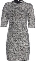 Alice + Olivia Inka Embellished Strong-Shoulder Mockneck Dress