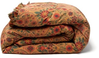Preen by Thornton Bregazzi Large Reversible Floral-print Satin Eiderdown - Brown Print