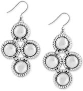 Lucky Brand Silver-Tone Pavé & Imitation Pearl Chandelier Earrings