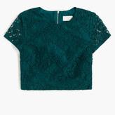 J.Crew Floral lace short-sleeve crop top