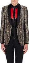 Saint Laurent Men's Python-Pattern Jacquard Single-Button Tuxedo Jacket-BEIGE, BLACK, NO COLOR