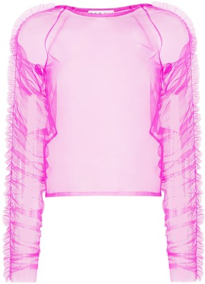 Molly Goddard Una tulle ruched top