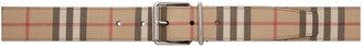 Burberry Beige E-Canvas Mack Belt