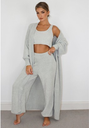 Missguided OversizedChenille Maxi Cardi- Grey