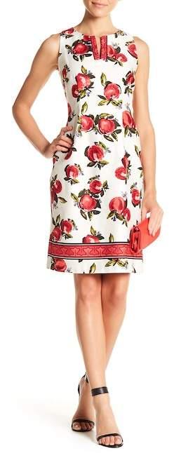 Chetta B V-Neck Floral Print Dress