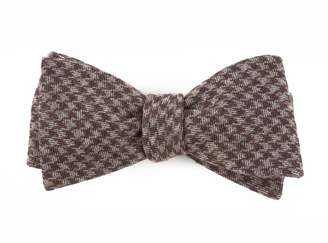 The Tie BarThe Tie Bar Brown Brushed Cotton Houndstooth Bow Tie