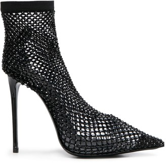 Le Silla Gilda crystal-sock booties