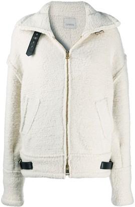 Laneus Zip-Up Wool Jacket