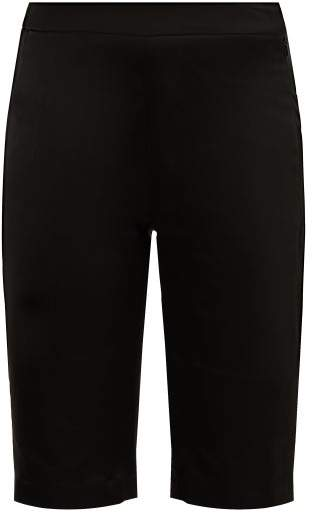 Wales Bonner High Rise Tailored Satin Shorts - Womens - Black