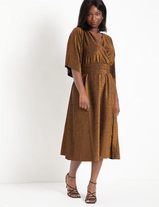 ELOQUII Full Kimono Sleeve Dress With Twist Detail