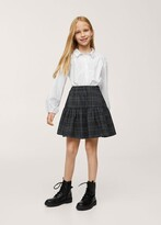 Thumbnail for your product : MANGO Ruffled checked skirt